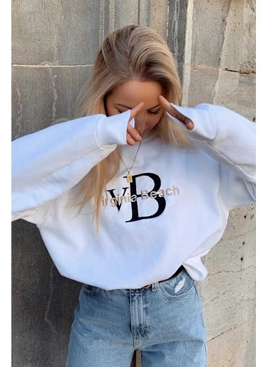 Madmext Mad Girls  Sweatshirt Mg838 Beyaz